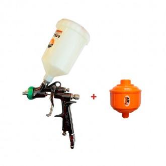 Краскопульт пневматический Air Pro AM5008 HVLP WB PLUS (1,0 мм) + подарок фильтр тонкой очистки Air Pro F3K