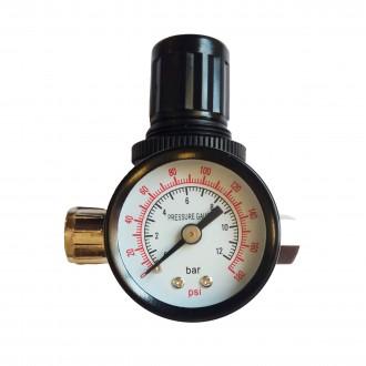 """Регулятор давления (редуктор) 1/4"""" с манометром для краскопультов SP024"""