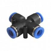 Муфта х-образная Ø 8 пластиковая для шлангов EMC 8 EPZA